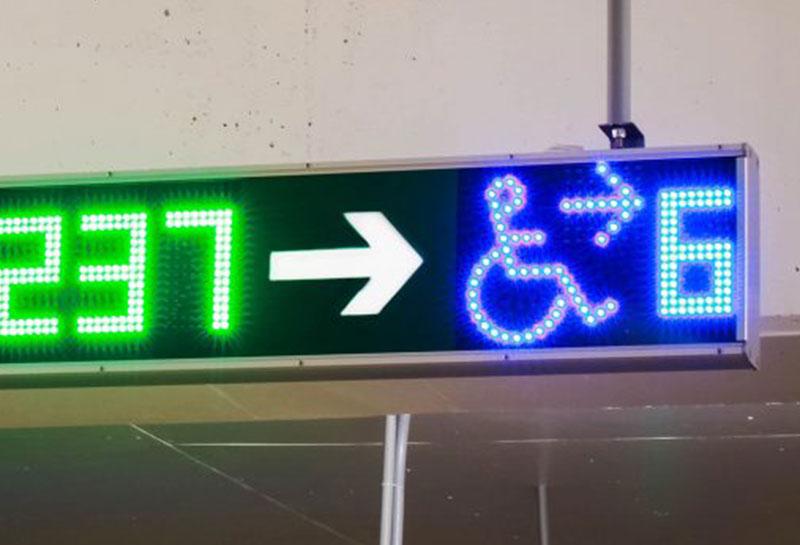 نمایشگر LED جهت و ظرفیت